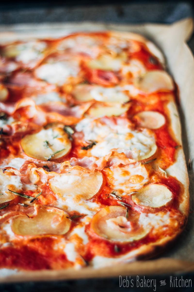 snelle pizza van de bakplaat