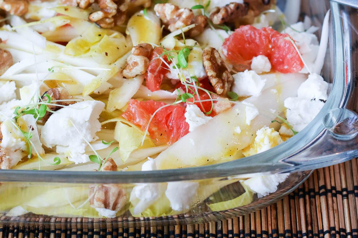 Witlof grapefruit salade met geitenkaas