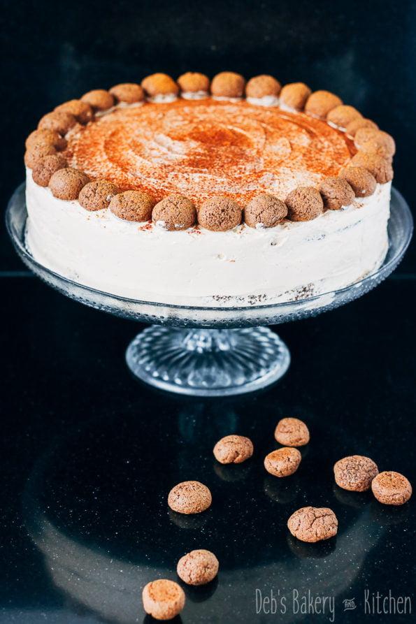 Appel speculaascake met maple frosting