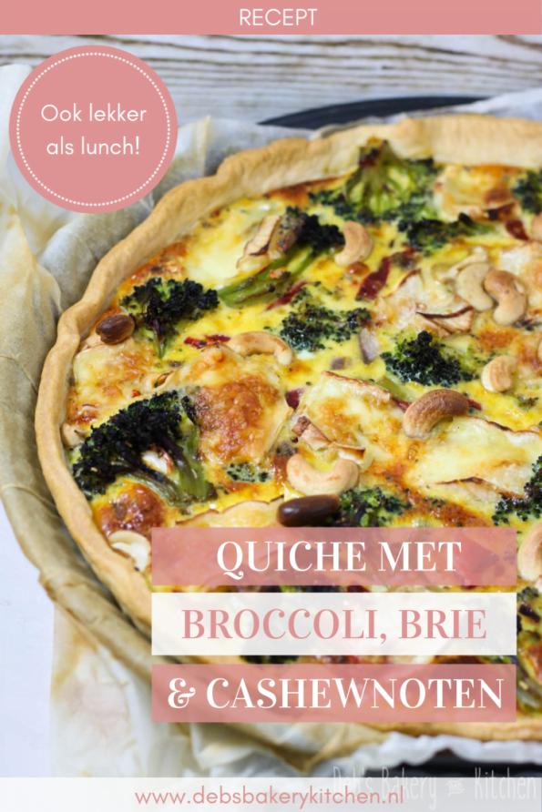 quiche met broccoli, brie en cashewnoten