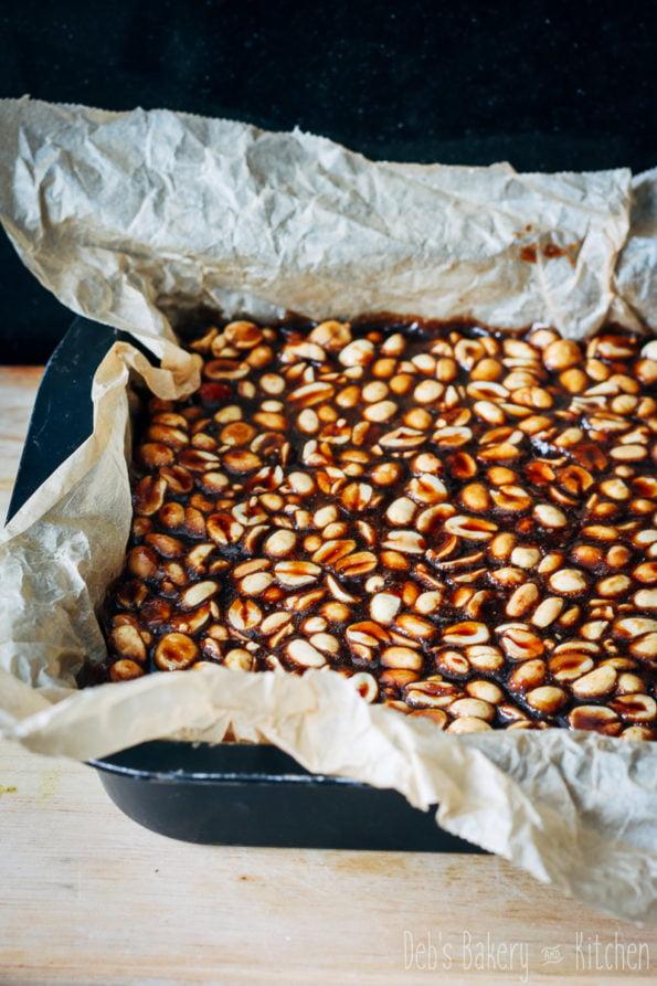 peanut caramel bars