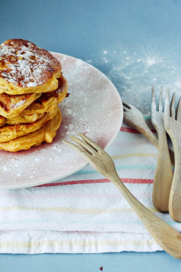 Amandel pancakes met appel