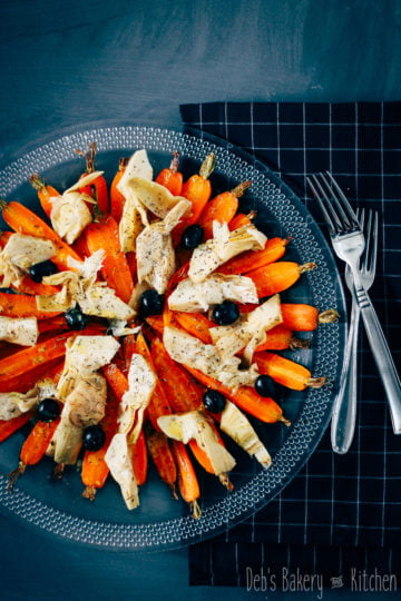 wortel artisjokken salade