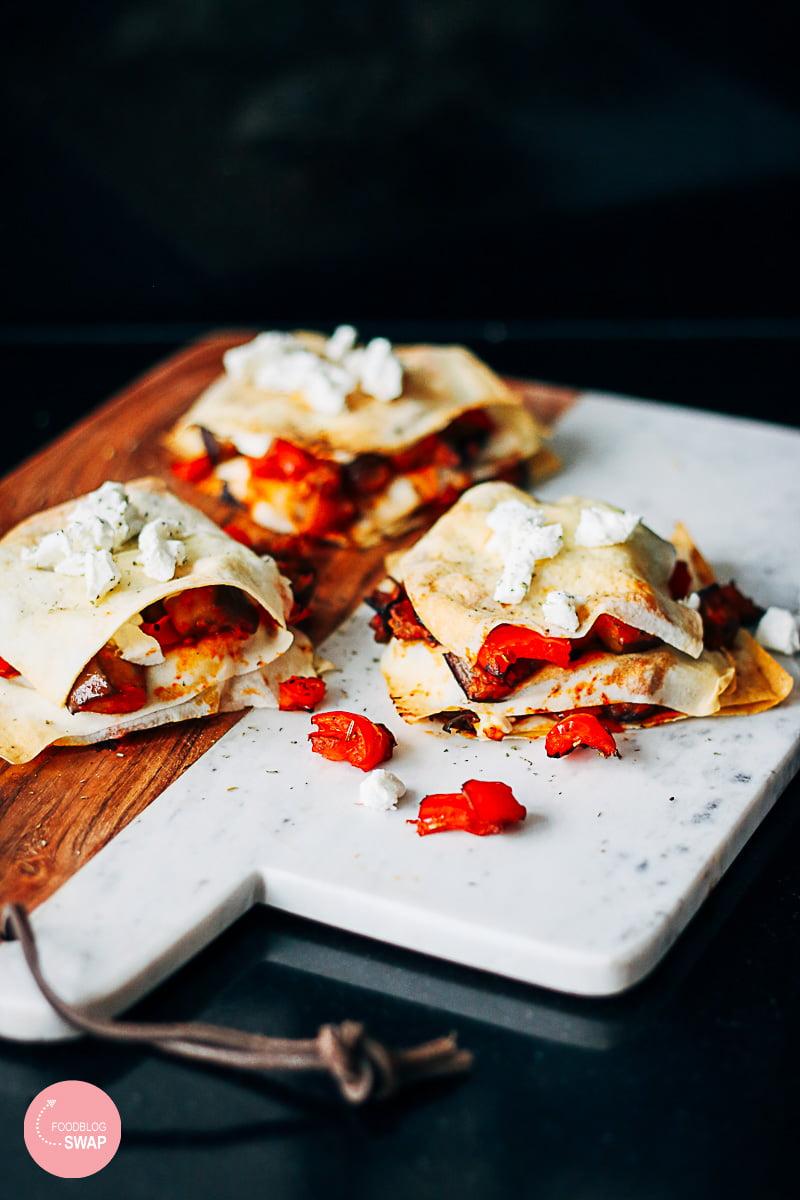 Lasagne van filodeeg met aubergine – Foodblogswap