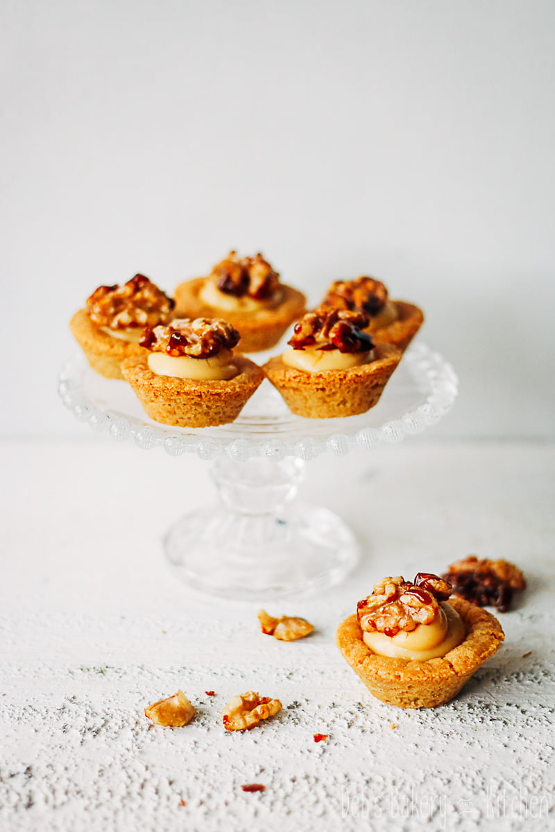 Cookie cups met kaneelroom