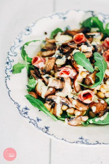 salade met champignons