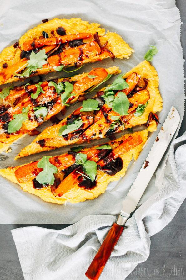 polentapizza met wortels
