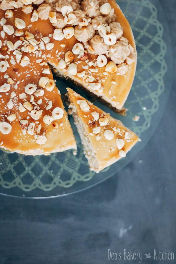 hazelnoot kastanjetaart met karamel