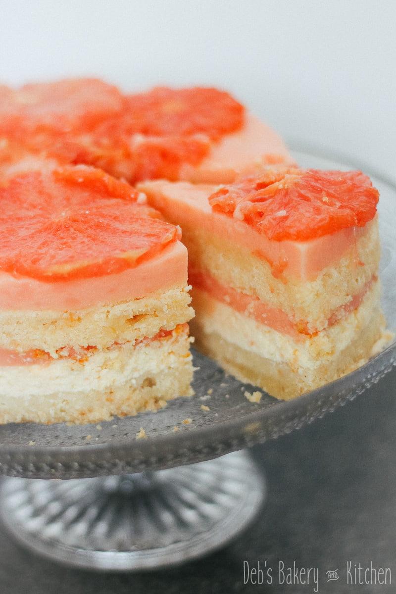 Grapefruit kokos cheesecake