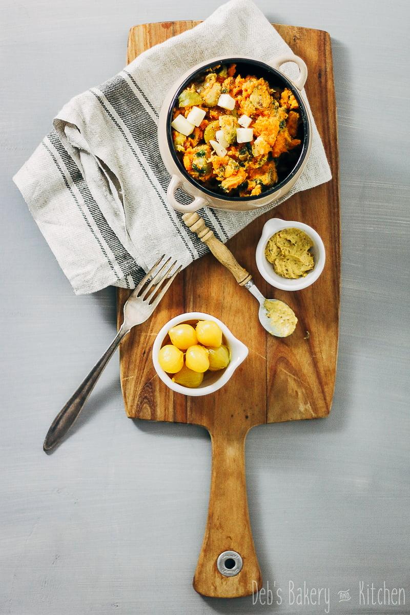 Spruitjes stamppot met zoete aardappel