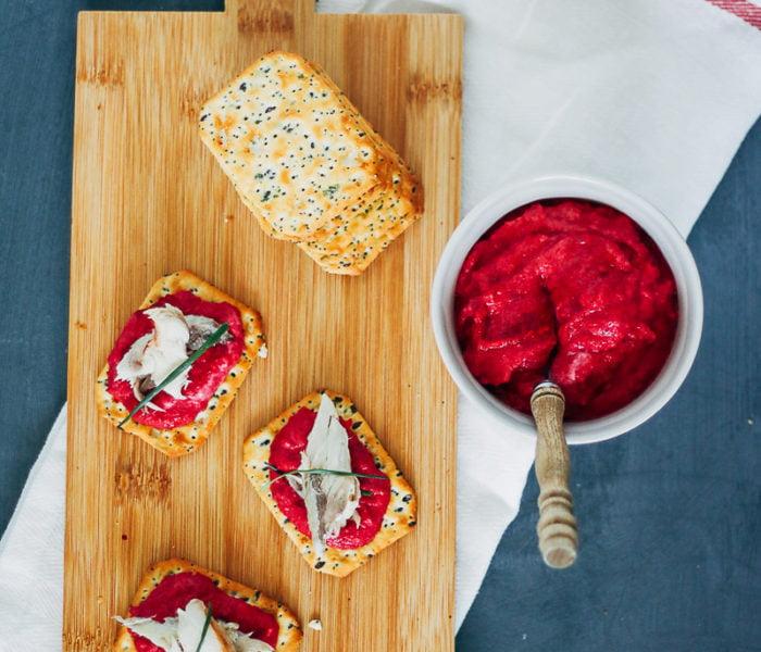 Borrelhapje met bietenmousse en makreel – Foodblogswap