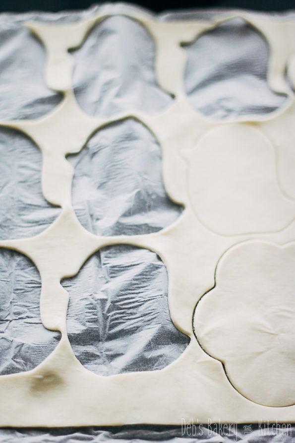Paasfiguren van bladerdeeg