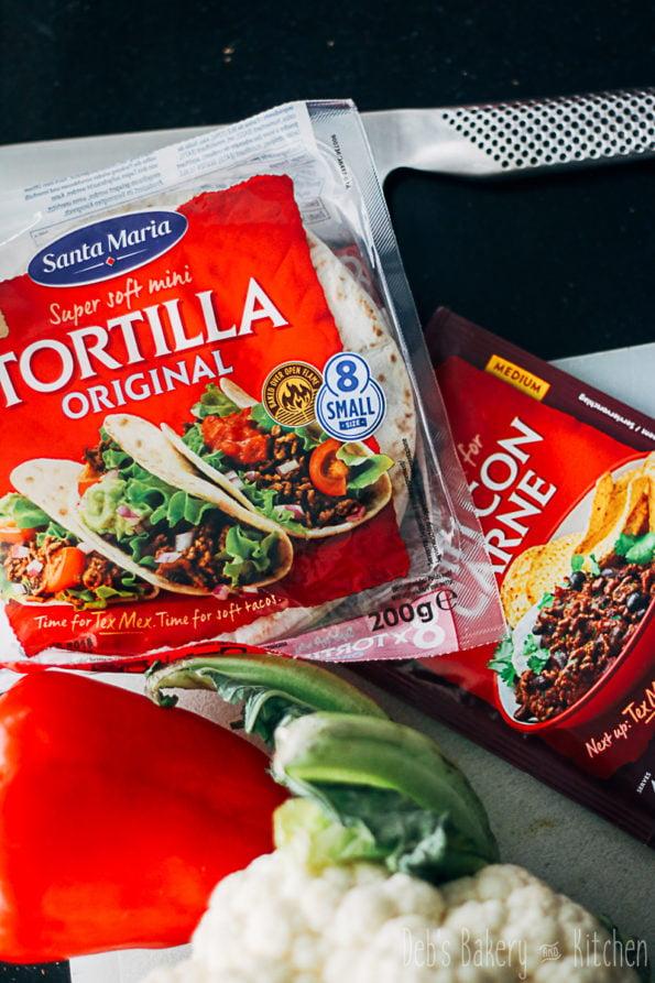tortillacups met spicy bloemkool