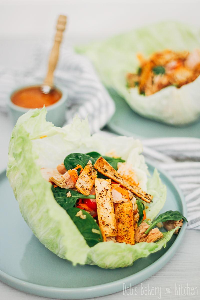 sla wraps met rijstsalade en tonijn