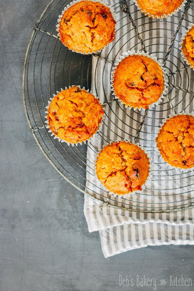 wortel-sultana muffins