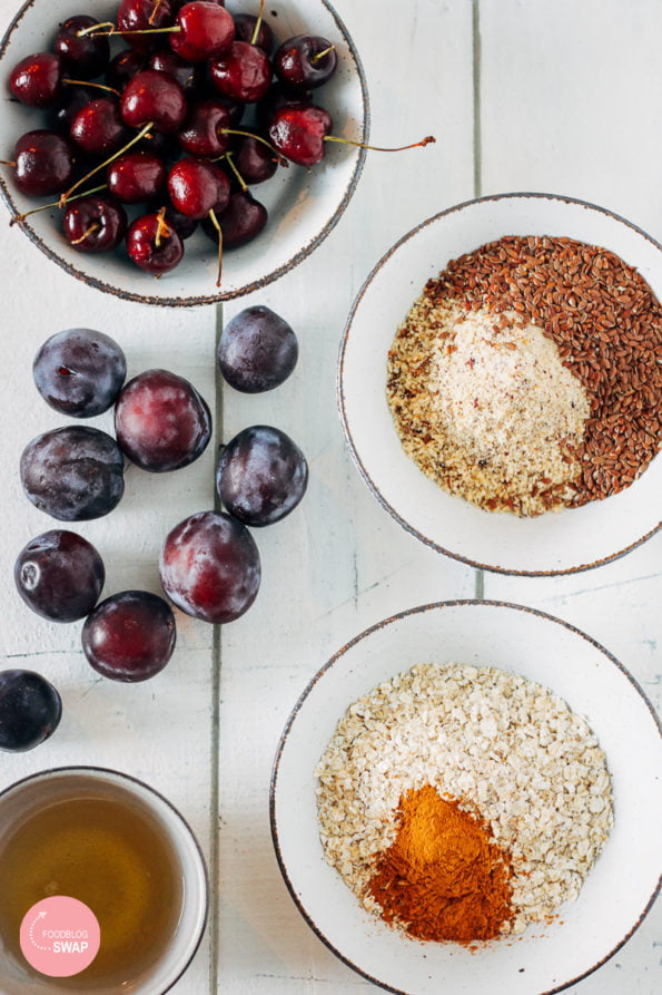 Havermout smoothiebowl met vers fruit