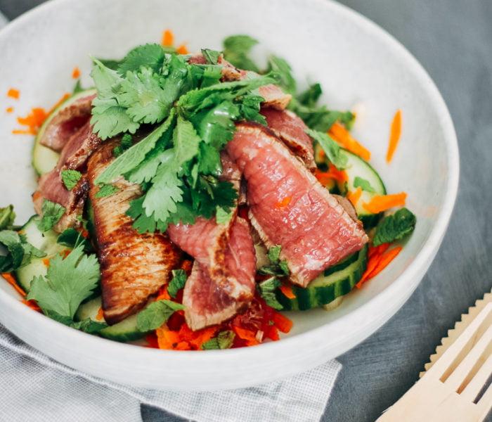 Rundvlees salade met Thaise kruiden