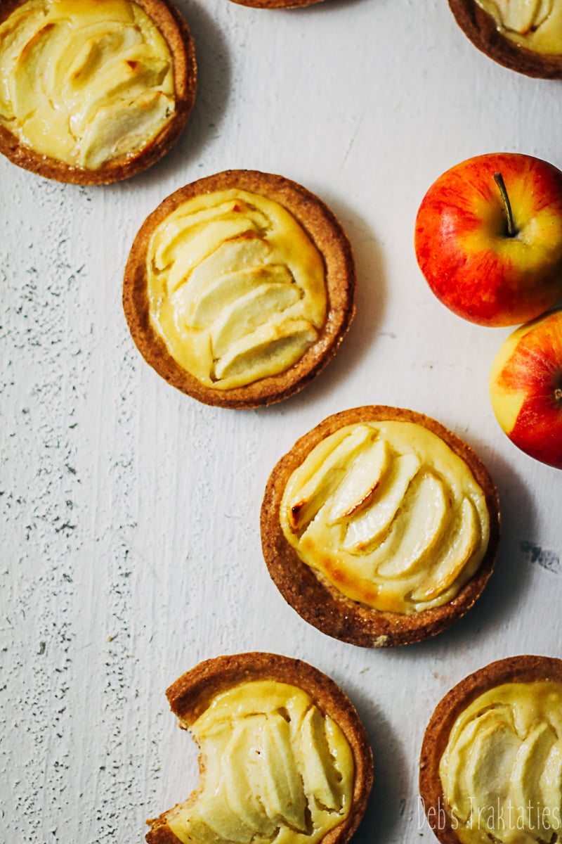 appel custard gebakjes