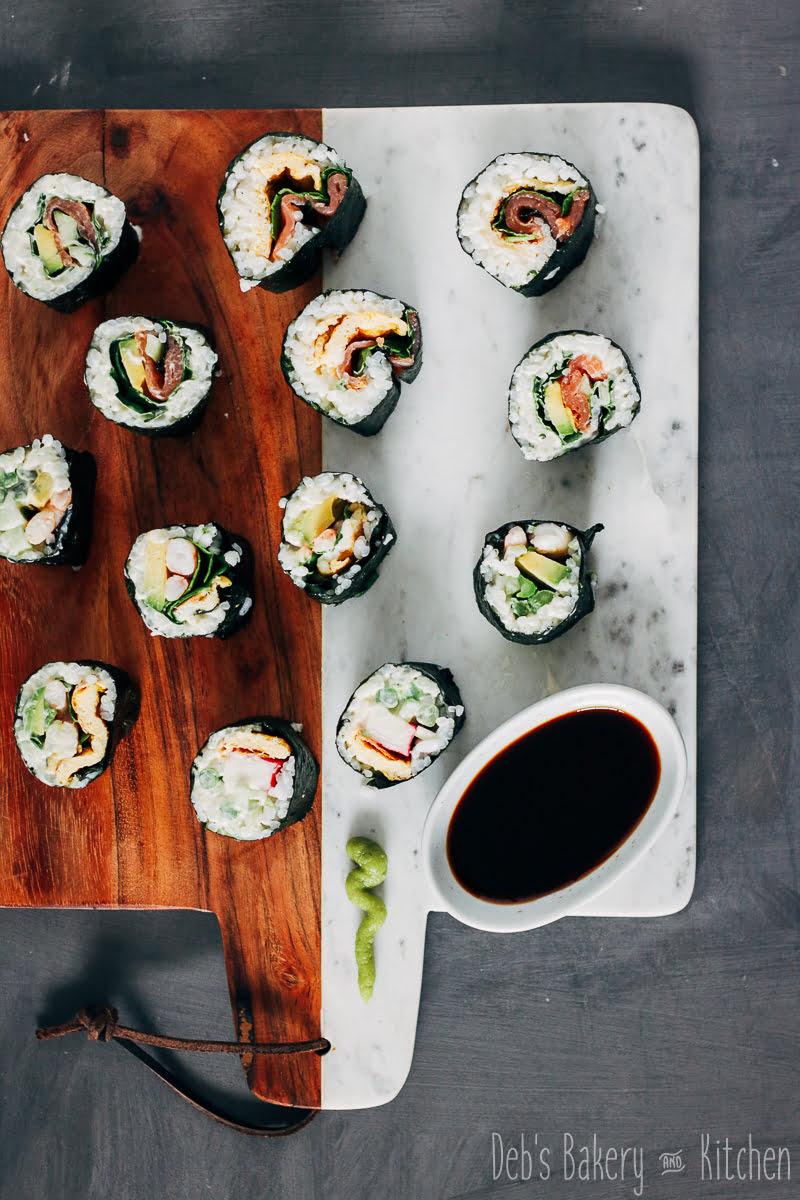 5 soorten homemade sushi