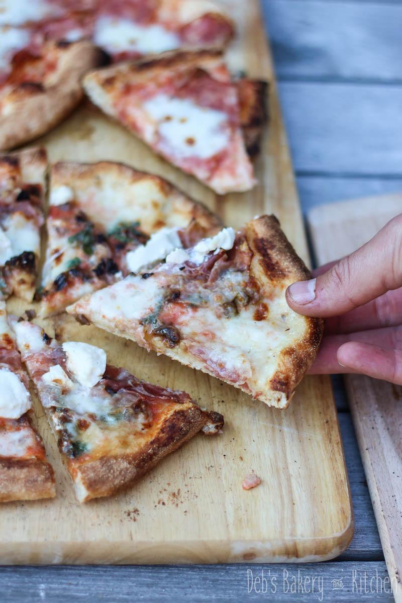 pizza porcini met pancetta