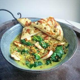 linzendahl met spinazie en paneer Mandy & more