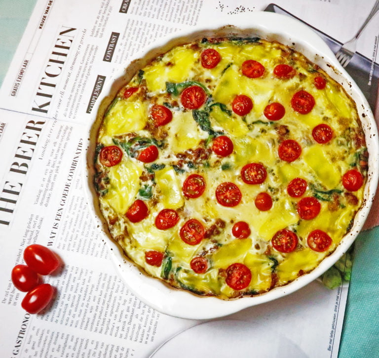 quiche met bloemkoolbodem priya loves food