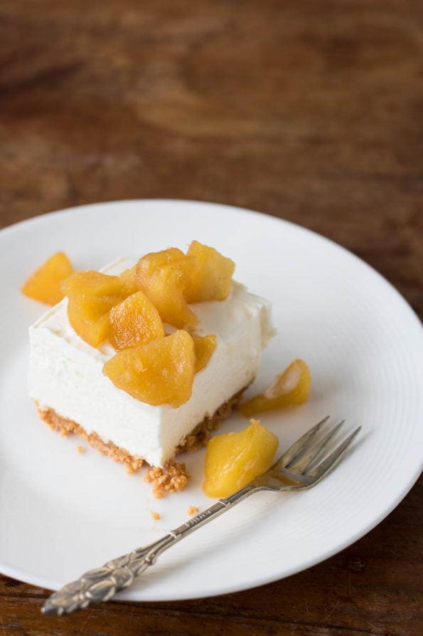 amaretto cheesecake met gekarameliseerde appel