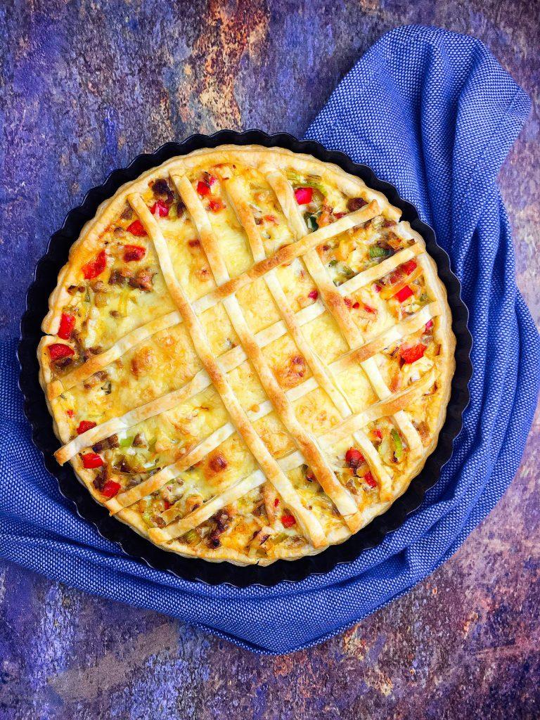Hartige-taart-prei-gehakt-Slowfoody