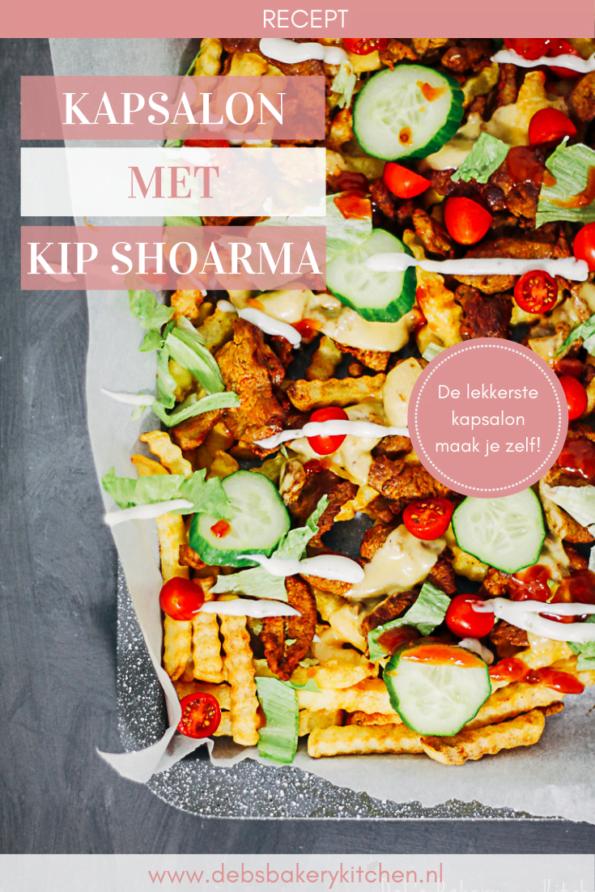 kapsalon met kip shoarma