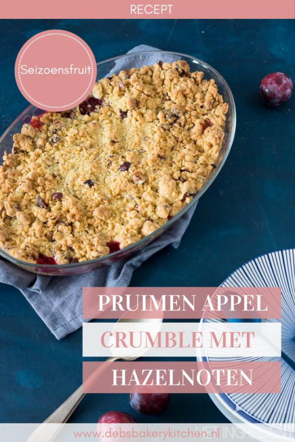 pruimen appel crumble met hazelnoten