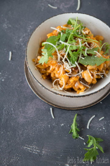 risotto met witte bonen en stoofvlees