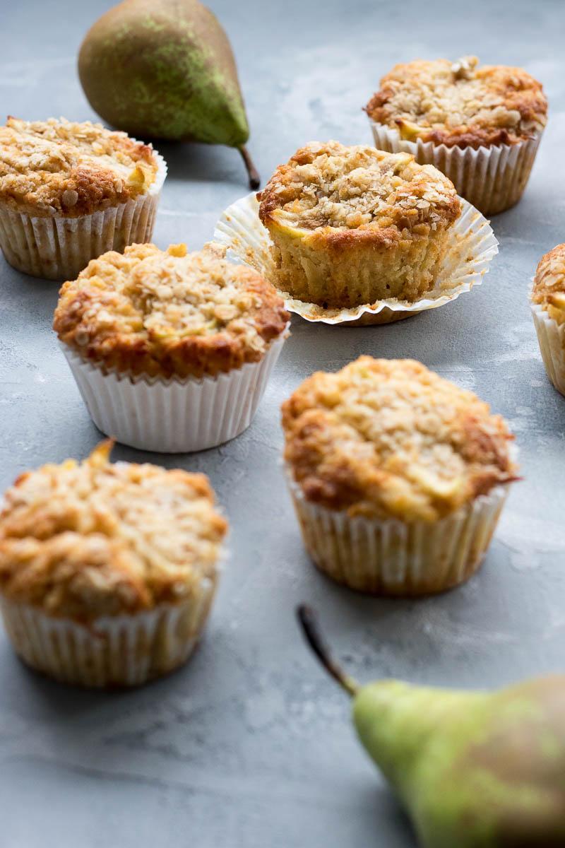 cupcakes met peer en honing