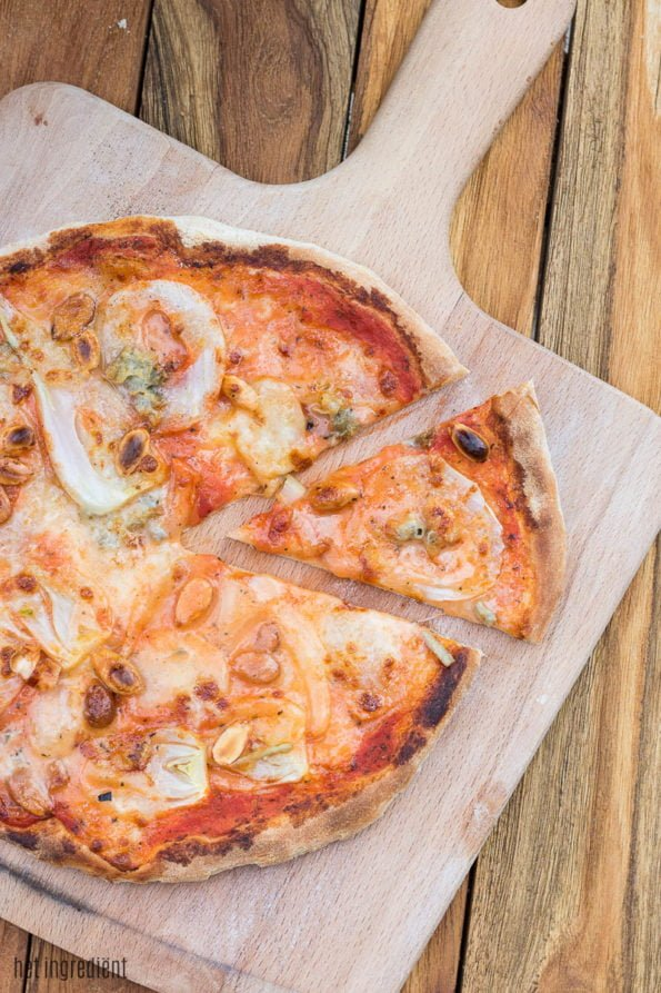 pizza met venkel en gorgonzola