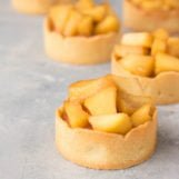 tartelettes met rabarber en limoncello appels