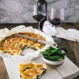 vier kazen quiche met spinazie