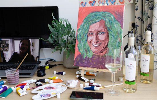 Me-time schilder workshop met goede wijn